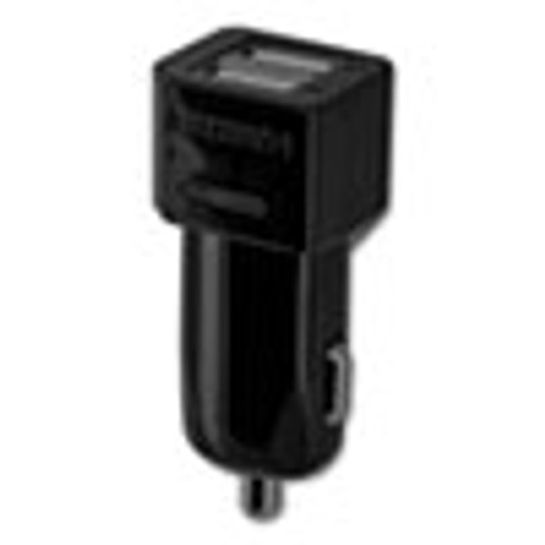 Duracell Hi-Performance Car Charger for USB Devices  Two Ports  LED Light (ECAPRO168)