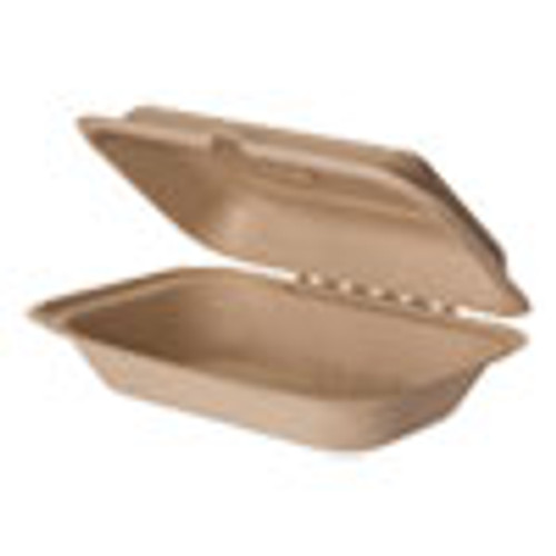 Eco-Products Wheat Straw Hinged Clamshell Containers  6 x 9 x 3  300 Carton (ECOEPHCW96)