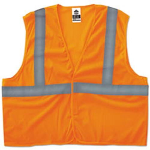 ergodyne GloWear 8205HL Type R Class 2 Super Econo Mesh Vest  Orange  S M (EGO20963)