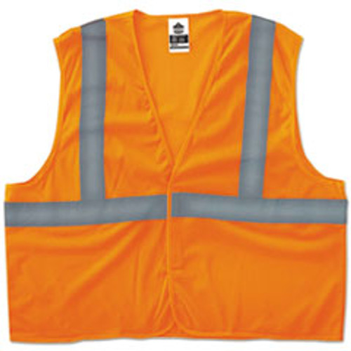 ergodyne GloWear 8205HL Type R Class 2 Super Econo Mesh Vest  Orange  2XL 3XL (EGO20967)