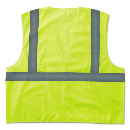 ergodyne GloWear 8205HL Type R Class 2 Super Econo Mesh Safety Vest  Lime  Small Medium (EGO20973)