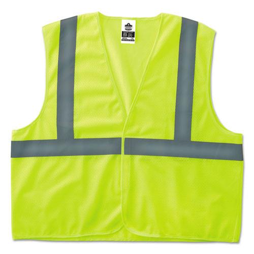 ergodyne GloWear 8205HL Type R Class 2 Super Econo Mesh Safety Vest  Lime  2X- 3X-Large (EGO20977)