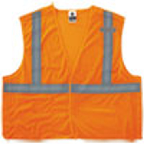 ergodyne GloWear 8215BA Type R Class 2 Econo Breakaway Mesh Vest  Orange  L XL (EGO21065)
