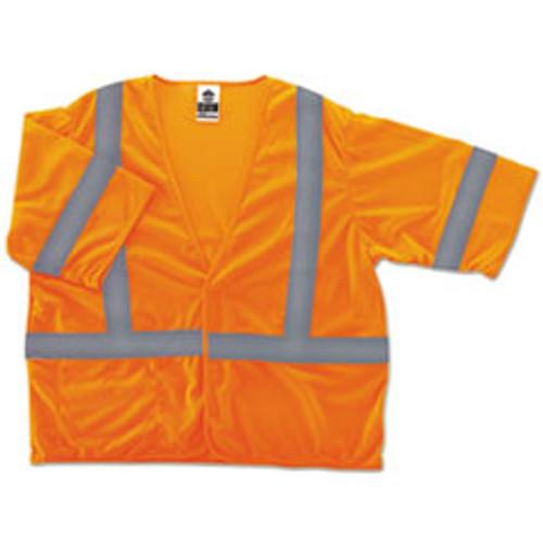ergodyne GloWear 8310HL Type R Class 3 Economy Mesh Vest  Lime  2XL 3XL (EGO22027)