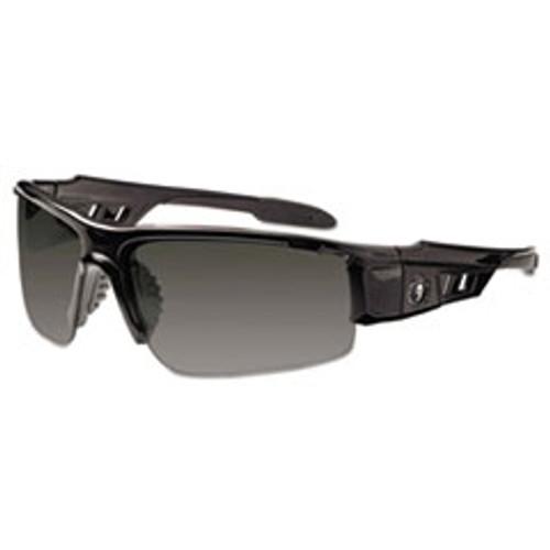 ergodyne Skullerz Dagr Safety Glasses  Black Frame Smoke Lens  Nylon Polycarb (EGO52030)