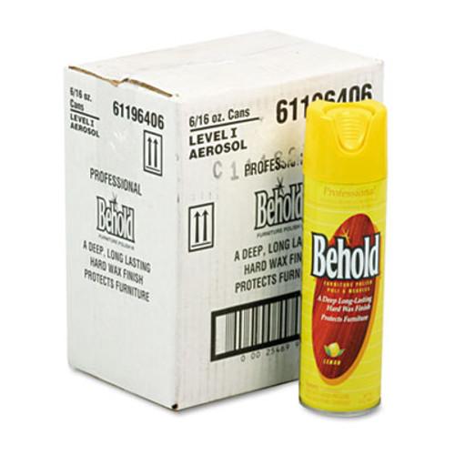 Ecolab Professional Behold Furniture Polish  16oz Aerosol  Lemon  6 Carton (ELB6196406)