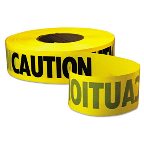 Empire Caution Barricade Tape   Caution  Text  3  x 1000ft  Yellow Black (EML771001)