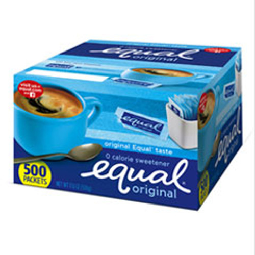 Equal Zero Calorie Sweetener  0 035 oz Packets  500 Box (EQL20008699)