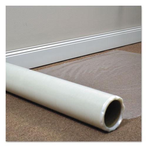 ES Robbins Roll Guard Temporary Floor Protection Film for Carpet  36 x 2 400  Clear (ESR110024)
