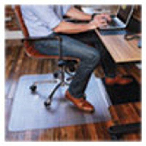 ES Robbins Sit or Stand Mat for Carpet or Hard Floors  36 x 53 with Lip  Clear Black (ESR184612)