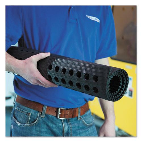 ES Robbins Pro Lite Four-Way Drain Mat  36 x 120  Black (ESR184717)