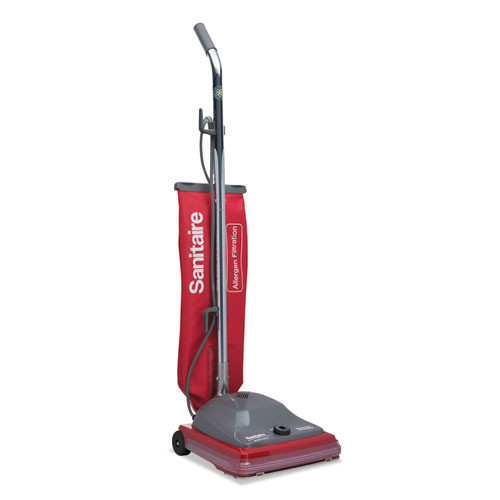 Sanitaire TRADITION Upright Bagged Vacuum  5 Amp  19 8 lb  Red Gray (EURSC688B)