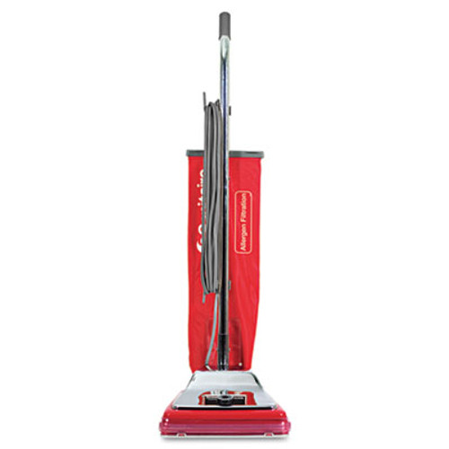 Sanitaire TRADITION Bagged Upright Vacuum  7 Amp  17 5 lb  Chrome Red (EURSC888N)