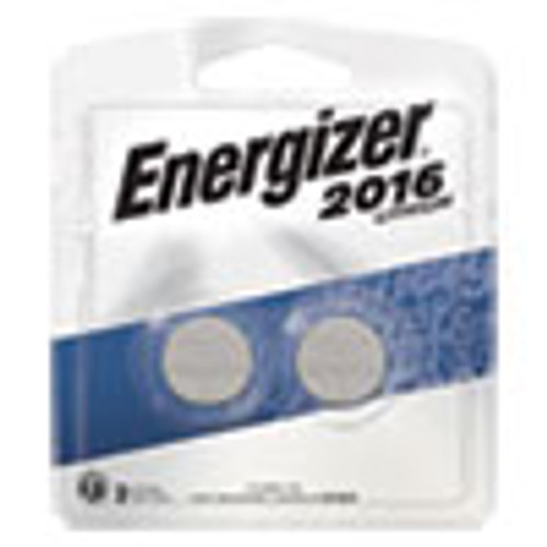 Energizer 2016 Lithium Coin Battery  3V  2 Pack (EVE2016BP2)