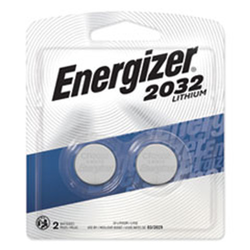 Energizer 2032 Lithium Coin Battery  3V  2 Pack (EVE2032BP2)
