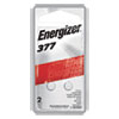 Energizer 377 Silver Oxide Button Cell Battery  1 5V  2 Pack (EVE377BPZ2)