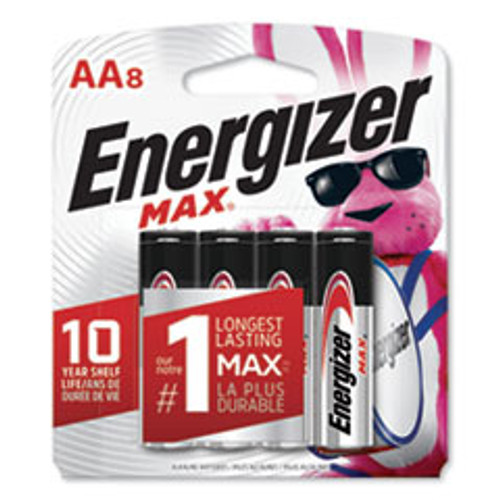 Energizer MAX Alkaline AA Batteries  1 5V  8 Pack (EVEE91MP8)