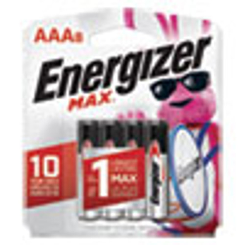 Energizer MAX Alkaline AAA Batteries  1 5V  8 Pack (EVEE92MP8)