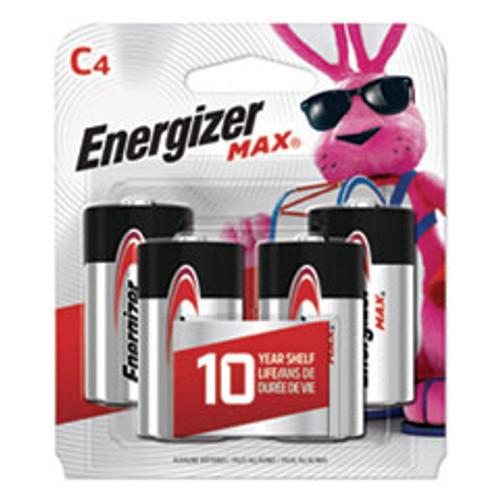 Energizer MAX Alkaline C Batteries  1 5V  4 Pack (EVEE93BP4)