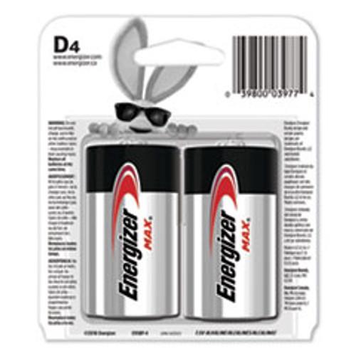 Energizer MAX Alkaline D Batteries  1 5V  4 Pack (EVEE95BP4)