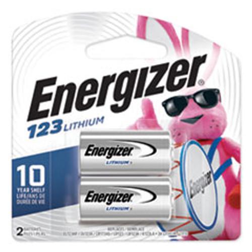 Energizer 123 Lithium Photo Battery  3V  2 Pack (EVEEL123APB2)