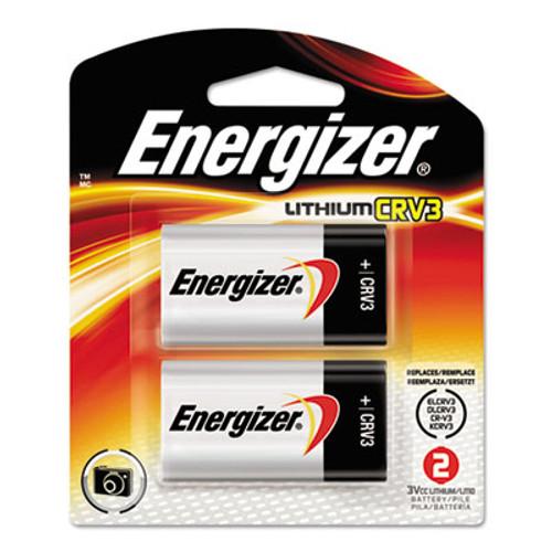 Energizer CRV3 Lithium Photo Battery  3V  2 Pack (EVEELCRV3BP2)