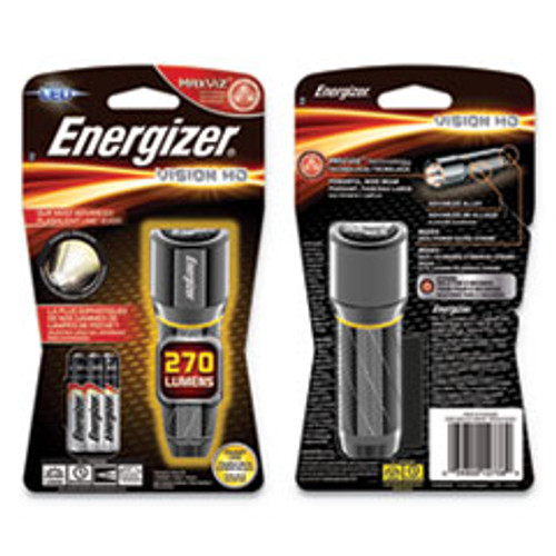 Energizer Vision HD  3 AAA Batteries  Included   Silver (EVEEPMHH32E)