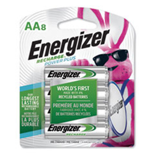 Energizer NiMH Rechargeable AA Batteries  1 2V  8 Pack (EVENH15BP8)