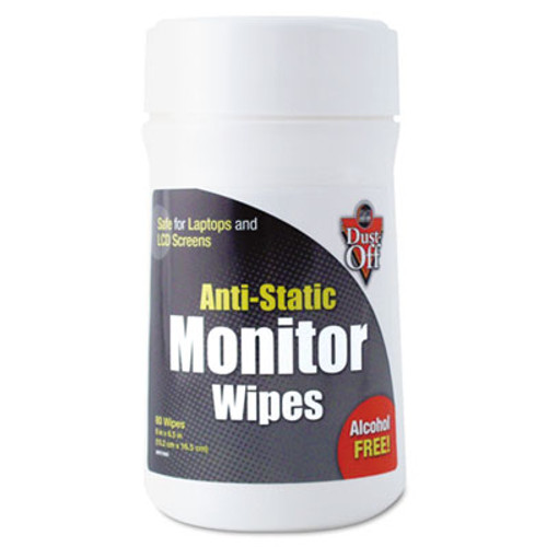 Dust-Off Premoistened Monitor Cleaning Wipes  Cloth  6 x 6 5  80 Tub (FALDSCT)