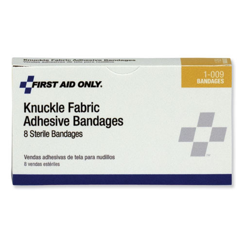 PhysiciansCare by First Aid Only First Aid Fabric Knuckle Bandages  8 Box (FAO1009)