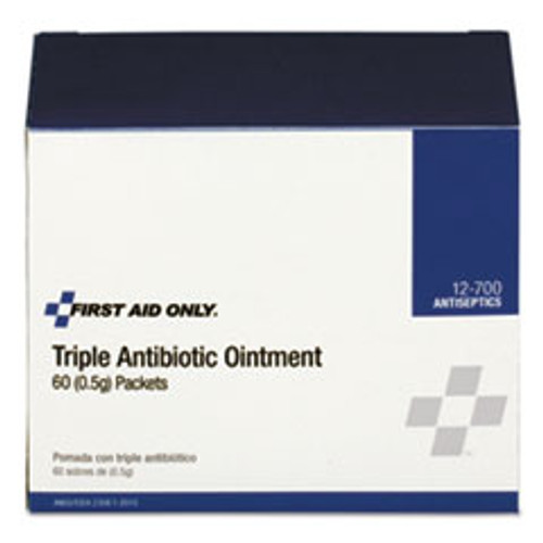 First Aid Only Triple Antibiotic Ointment  0 5 g Packet  60 Box (FAO12700)