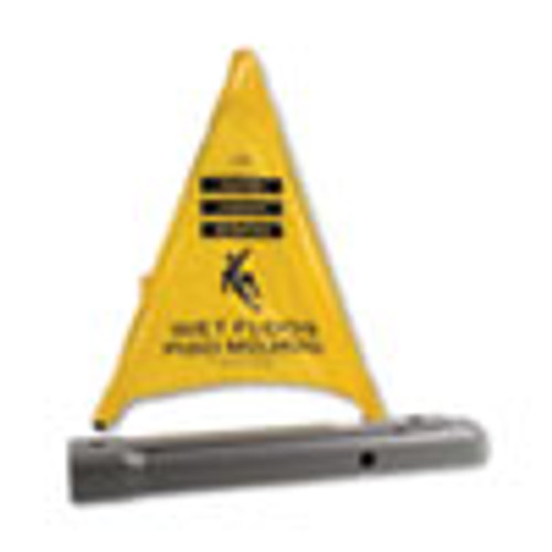 Spill Magic Pop Up Safety Cone  3  x 2 1 2  x 20   Yellow (FAO220SC)