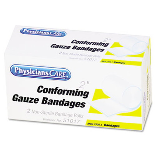 PhysiciansCare by First Aid Only First Aid Conforming Gauze Bandage  2  wide  2 Rolls Box (FAO51017)