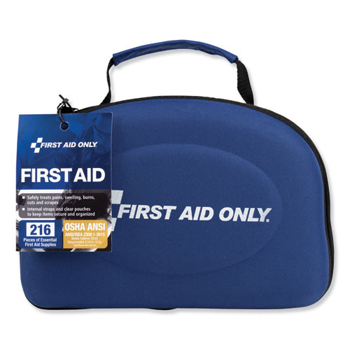 First Aid Only Bulk ANSI 2015 Compliant First Aid Kit  211 Pieces  Fabric Case (FAO91062)