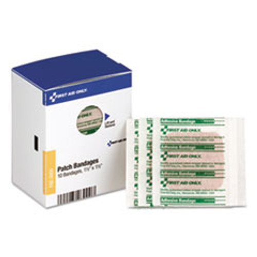 First Aid Only SmartCompliance Patch Bandages  1 1 2  x 1 1 2   10 Box (FAOFAE3000)