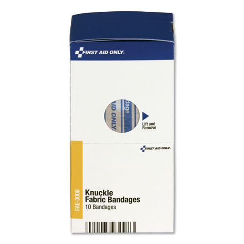 First Aid Only Knuckle Bandages  Individually Sterilized  10 Box (FAOFAE3008)
