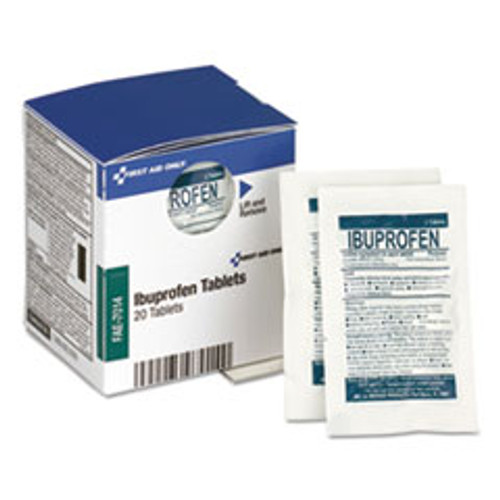 First Aid Only Over the Counter Pain Relief Medication for First Aid Cabinet  20 Tablets (FAOFAE7014)