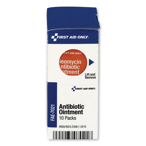 First Aid Only SmartCompliance Antibiotic Ointment  10 Packets Box (FAOFAE7021)