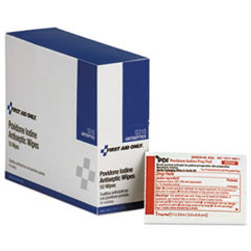First Aid Only Refill for SmartCompliance General Business Cabinet  PVP Iodine  50 BX (FAOG310)