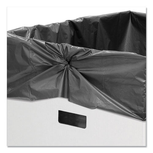 Bankers Box Waste and Recycling Bin  50 gal  White  10 Carton (FEL7320201)