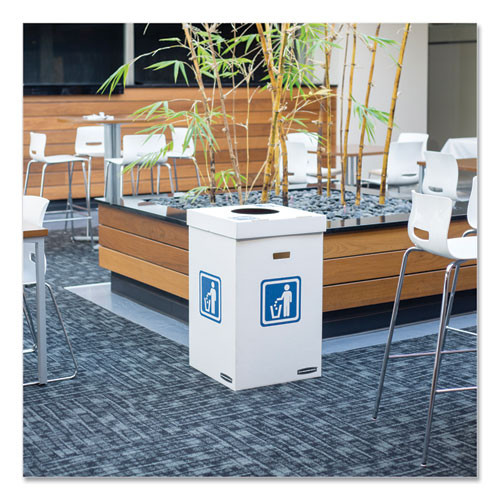 Bankers Box Waste and Recycling Bin Lid  Paper  White Green Print  10 Carton (FEL7320301)