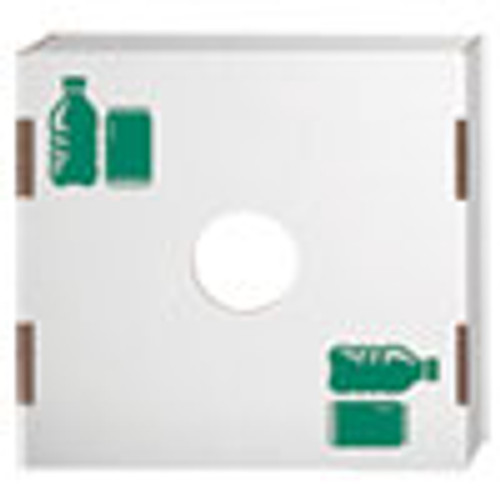 Bankers Box Waste and Recycling Bin Lid  Bottles and Cans  White Green Print  10 Carton (FEL7320401)