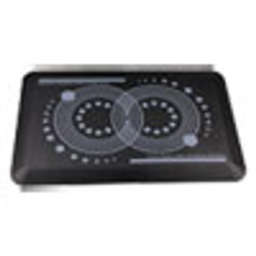 Floortex AFS-TEX 2000 Anti-Fatigue Mat  Rectangle  16 x 24  Midnight Black (FLRFCA21624BK)