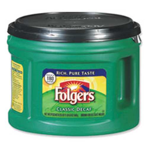 Folgers Coffee  Classic Roast Decaffeinated  Ground  22 3 5oz Can (FOL00374EA)