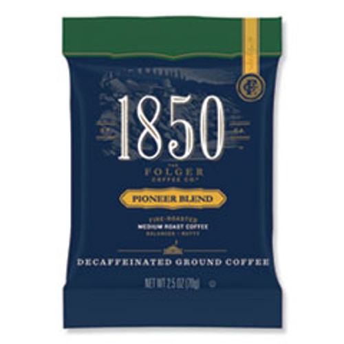 1850 Coffee Fraction Packs  Pioneer Blend Decaf  Medium Roast  2 5 oz Pack  24 Packs Carton (FOL21513)