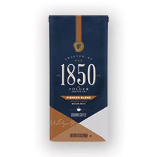 1850 Coffee  Pioneer Blend  Medium Roast  Ground  12 oz Bag  6 Carton (FOL60514)