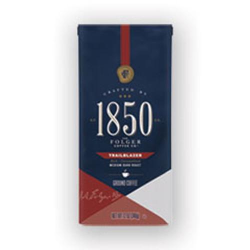 1850 Coffee  Trailblazer  Dark Roast  Ground  12 oz Bag  6 Carton (FOL60515)