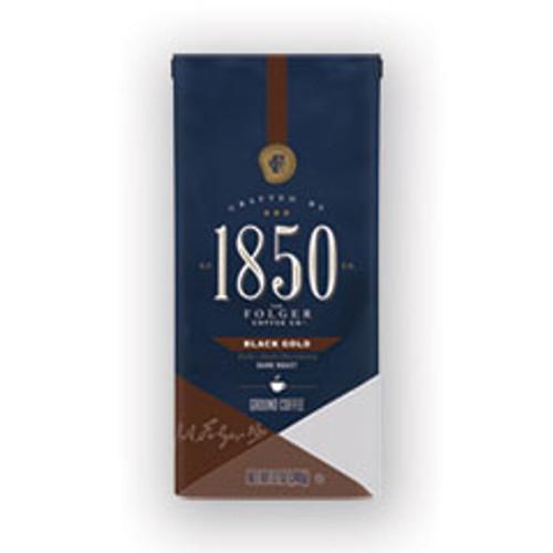 1850 Coffee  Black Gold  Dark Roast  Ground  12 oz Bag (FOL60516EA)