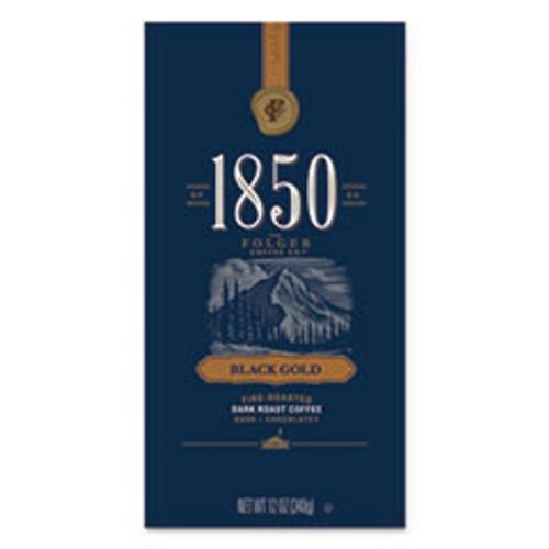 1850 Coffee  Black Gold  Dark Roast  Whole Bean  12 oz Bag (FOL60518EA)