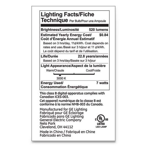 GE LED PAR20 Dimmable Warm White Flood Light Bulb  3000K  7 W (GEL93348)
